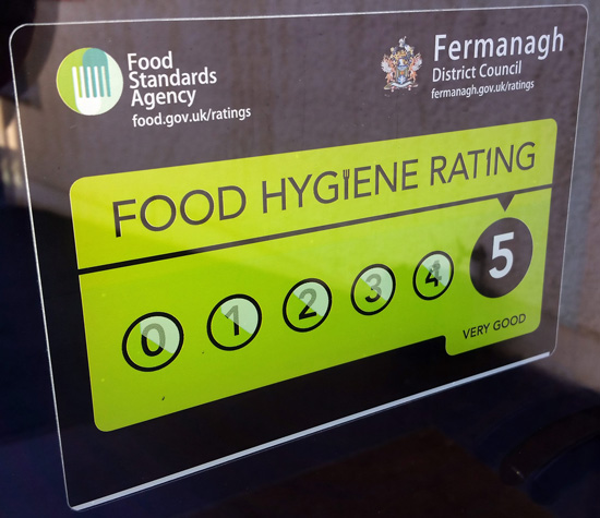 Food Hygiene Rating 2015 - Johnny Rocko's, Irvinestown