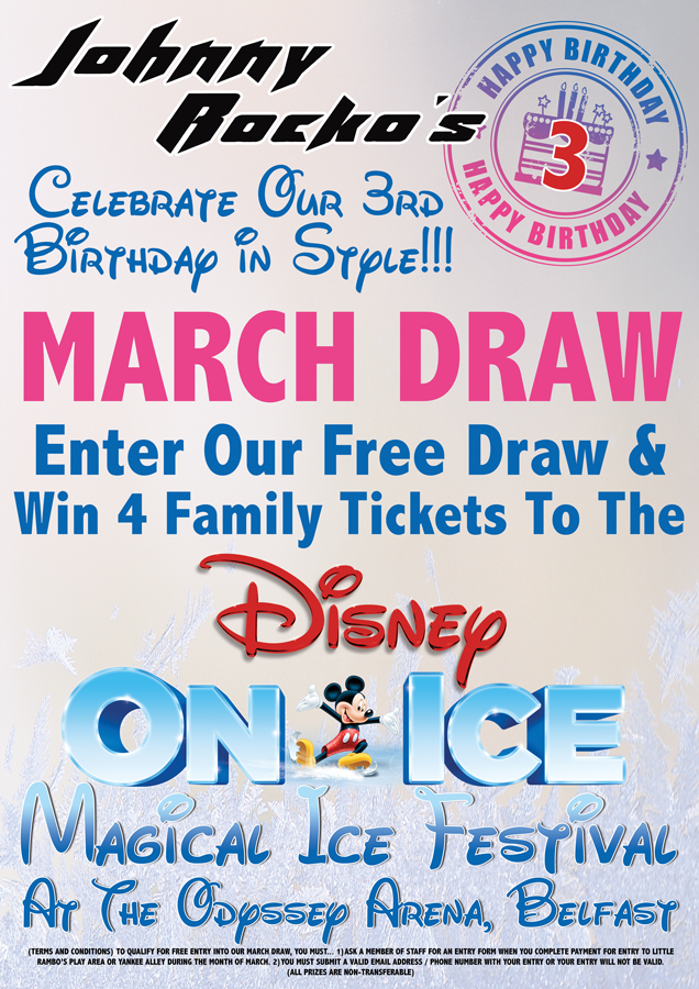 Johnny Rockos 3rd Birthday - Disney on Ice Competition